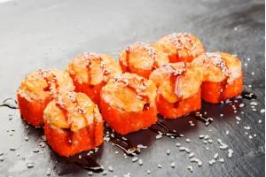 Сяке Маки под сырным соусом
