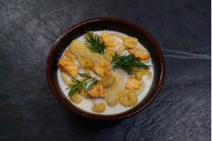 Суп сливочно-кокосовый с морепродуктами NEW